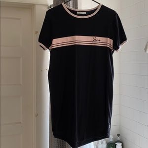 A black semi tight dress